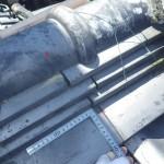 インスペクションで明らかになったのし瓦の納まり不都合(雨漏りの原因)